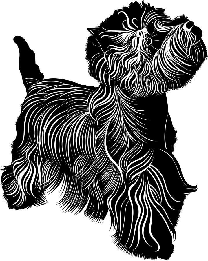 Terrier bianco di altopiano ad ovest illustrazione di stock
