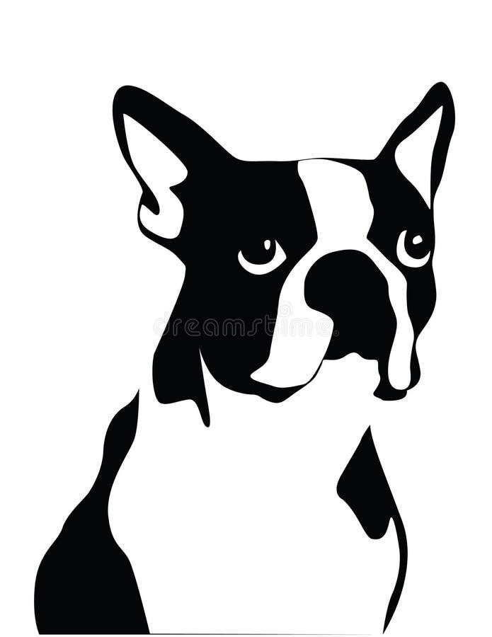 Terrier de Boston stock de ilustración