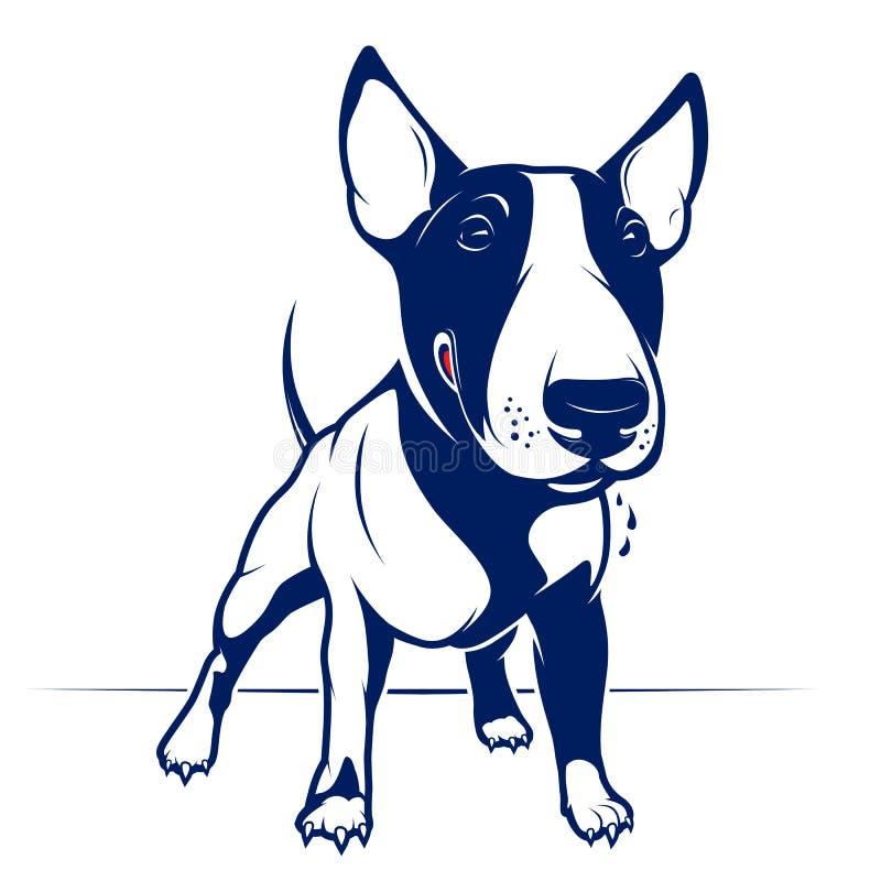 Terrier de Bull ilustração do vetor