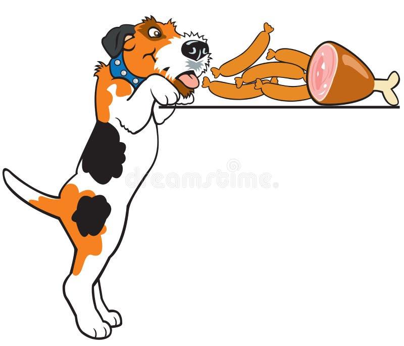 Terrier de raposa dos desenhos animados ilustração royalty free