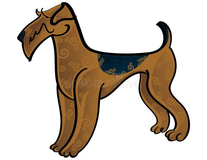 Terrier di Airedale illustrazione di stock