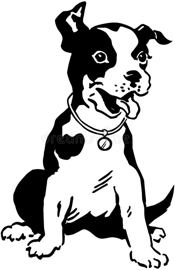 Terrier Dog royalty free illustration