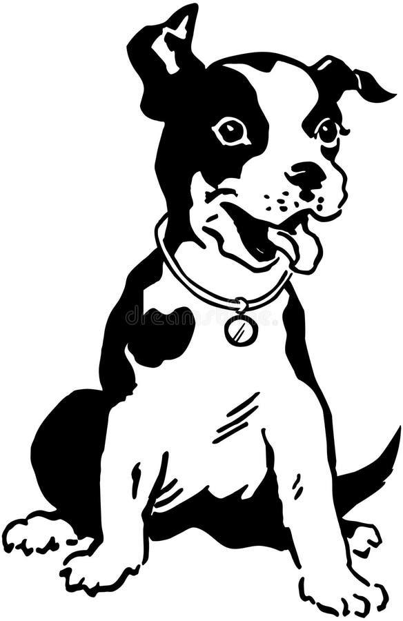Terrier pies royalty ilustracja