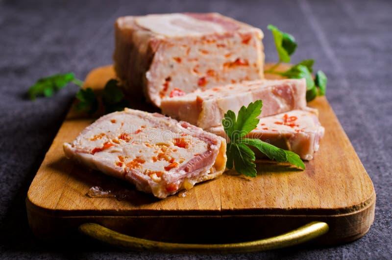 Terrine da carne com bacon fotos de stock royalty free