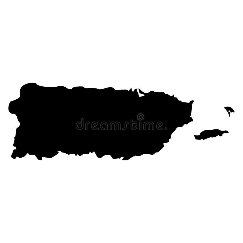 Território de Porto Rico em um fundo branco ilustração do vetor