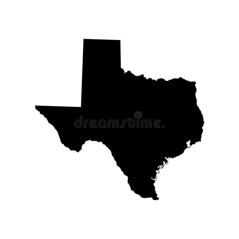 Território de Texas Fundo branco Ilustração do vetor ilustração royalty free