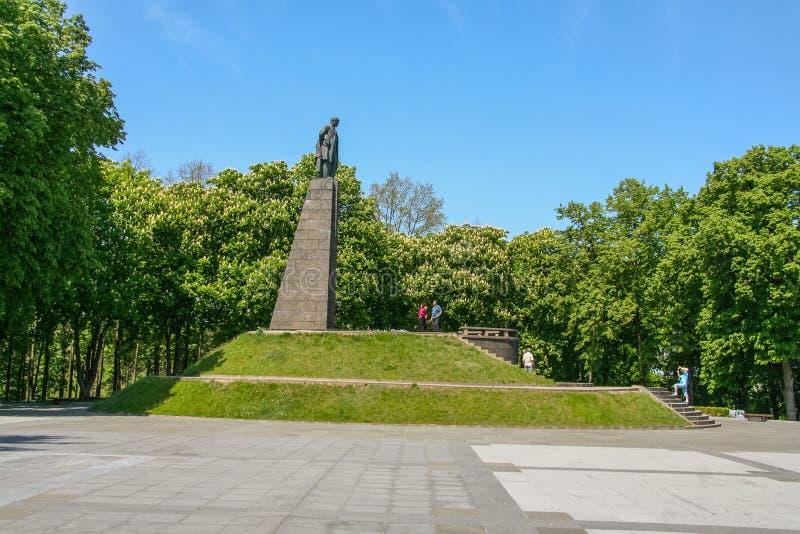 Território do memorial - Taras Shevchenko grave fotografia de stock