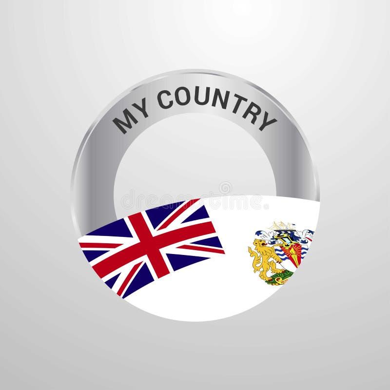 Territoire antarctique britannique mon insigne de drapeau de pays illustration de vecteur