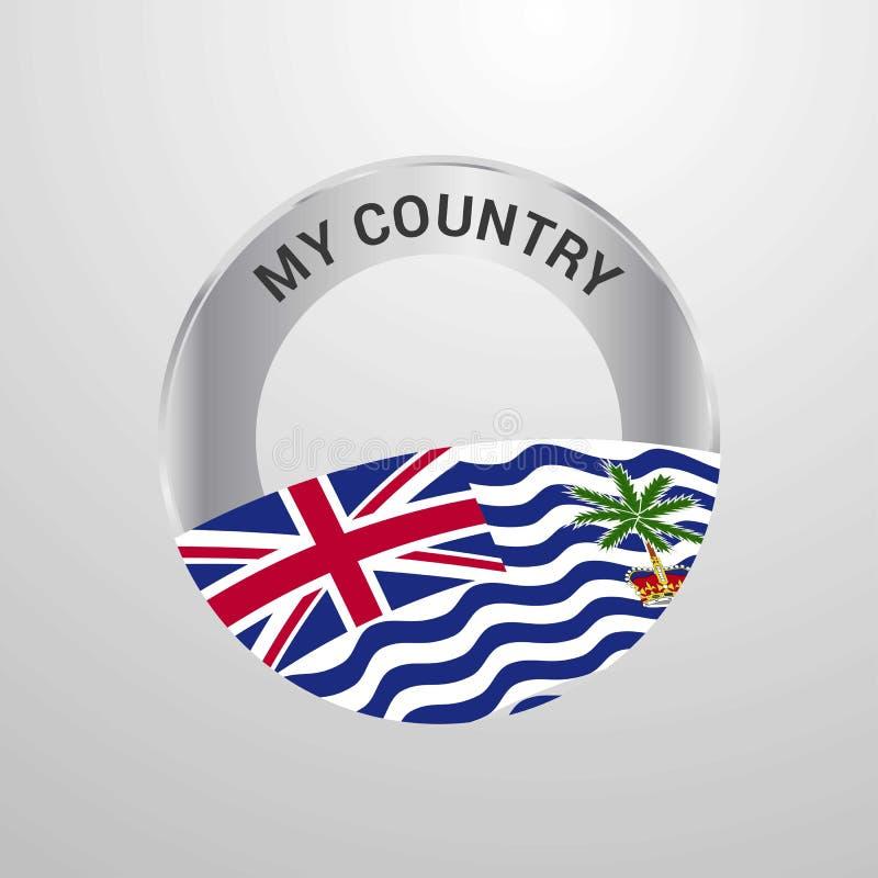 Territoire d'Océan Indien britannique mon insigne de drapeau de pays illustration libre de droits