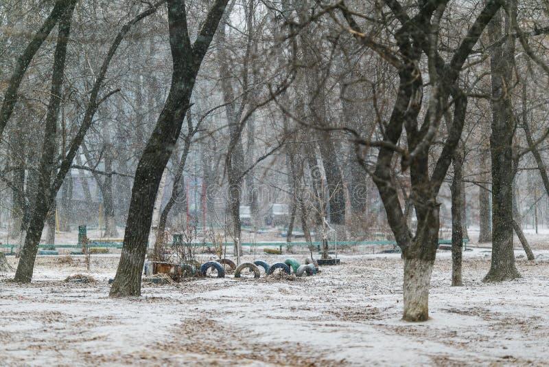 Territoire de Chambre couvert de neige Cour russe photographie stock