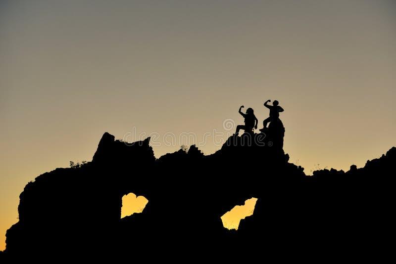 Territoires très intéressants, les gens après découverte et aventure photos stock
