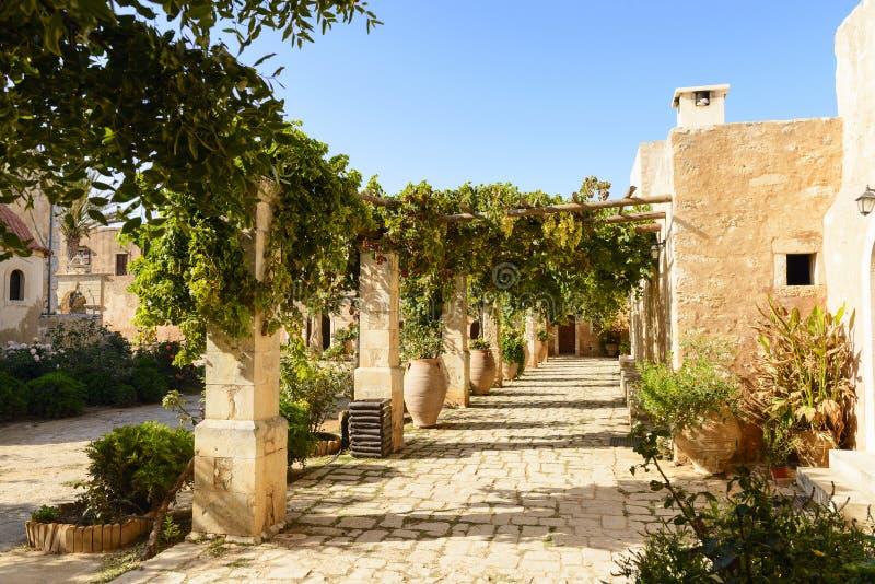 Territori of Arkadi monastery. Crete, Greece royalty free stock photo