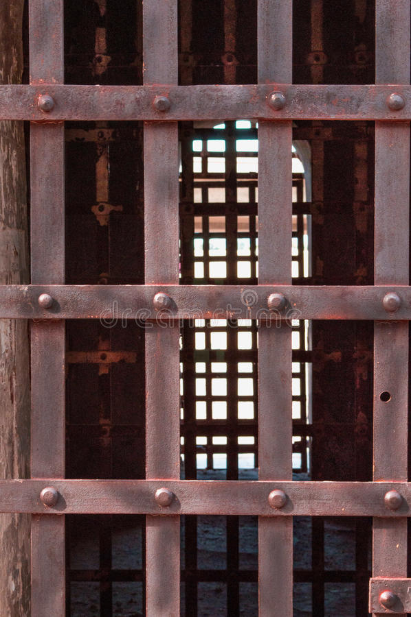 Territoriale Gevangenisbars stock fotografie