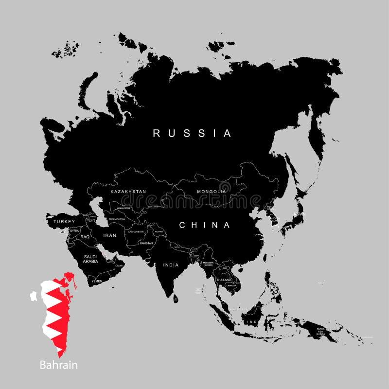 Territorio de Bahrein en el continente de Asia Indicador de Bahrein Ilustración del vector stock de ilustración