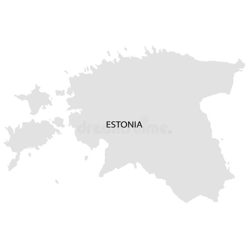Territorio de Estonia Fondo blanco Ilustración del vector ilustración del vector