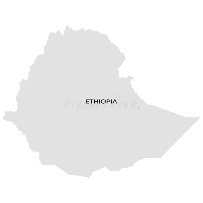 Territorio de Etiopía en un fondo blanco stock de ilustración