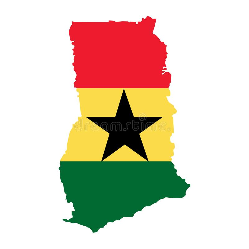 Territorio de Ghana en un fondo blanco ilustración del vector