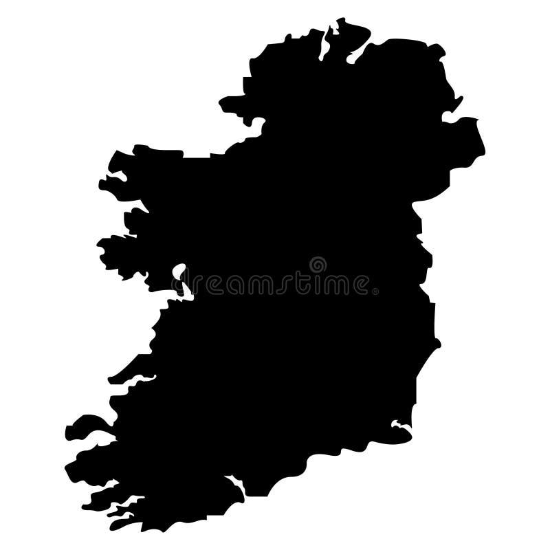Territorio de Irlanda en un fondo blanco Ilustración del vector ilustración del vector