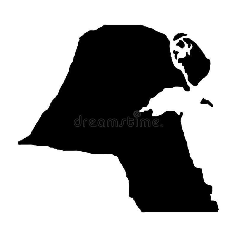 Territorio de Kuwait Fondo blanco Ilustración del vector ilustración del vector