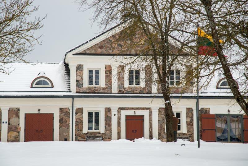 Territorio de Paliesiaus Dvaras de la casa señorial en Lituania imagen de archivo libre de regalías