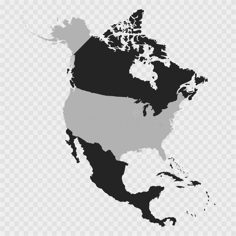 Territorio degli Stati Uniti sulla mappa del continente di Nord America sui precedenti grigi illustrazione vettoriale