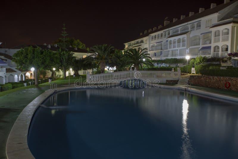 Territorio del hotel (territorio de Caletta del La del hotel, Alcossebre, España) imagen de archivo libre de regalías