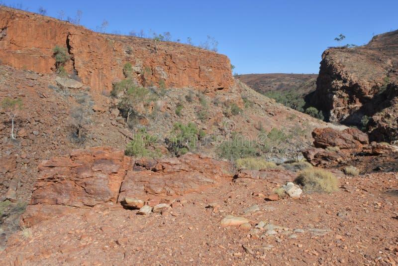 Territorio del Nord ad ovest Australia del parco nazionale di MacDonnell della gola di Ormiston immagine stock
