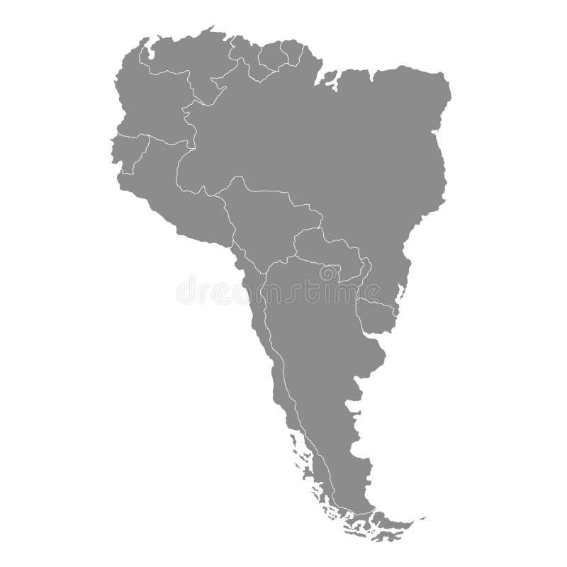 Territorio del Sudamerica con il contorno Illustrazione di vettore illustrazione vettoriale