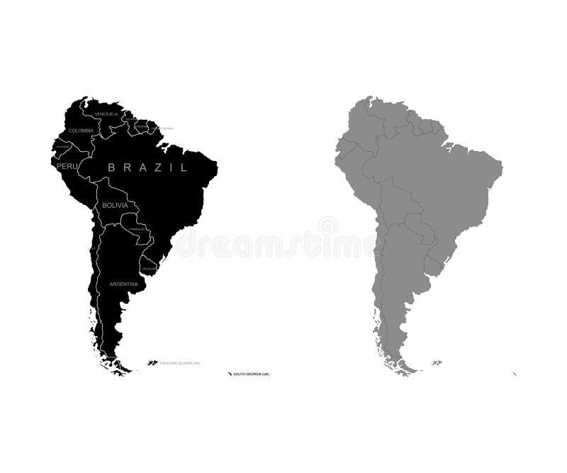 Territorio del Sudamerica Illustrazione di vettore illustrazione di stock