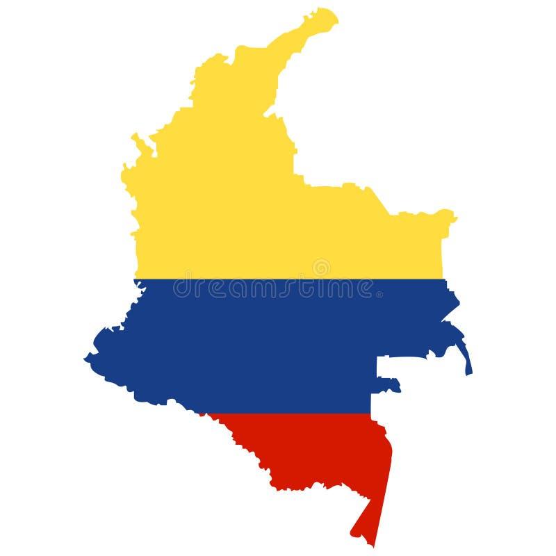 Territorio della Colombia su un fondo bianco illustrazione vettoriale