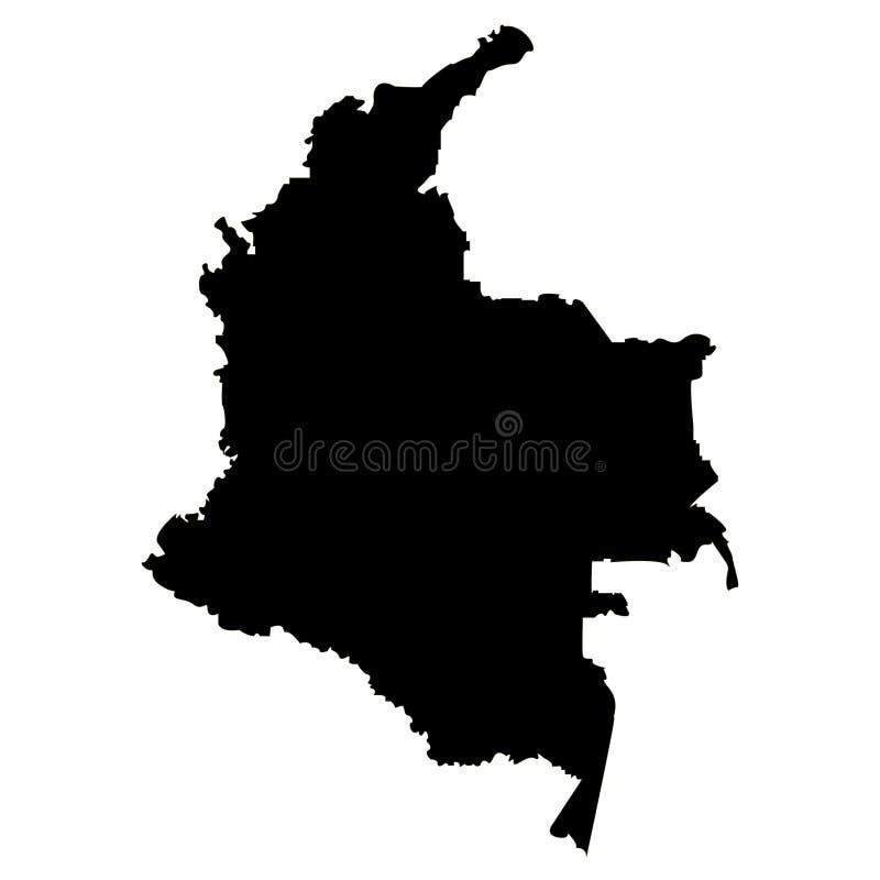 Territorio della Colombia su un fondo bianco royalty illustrazione gratis