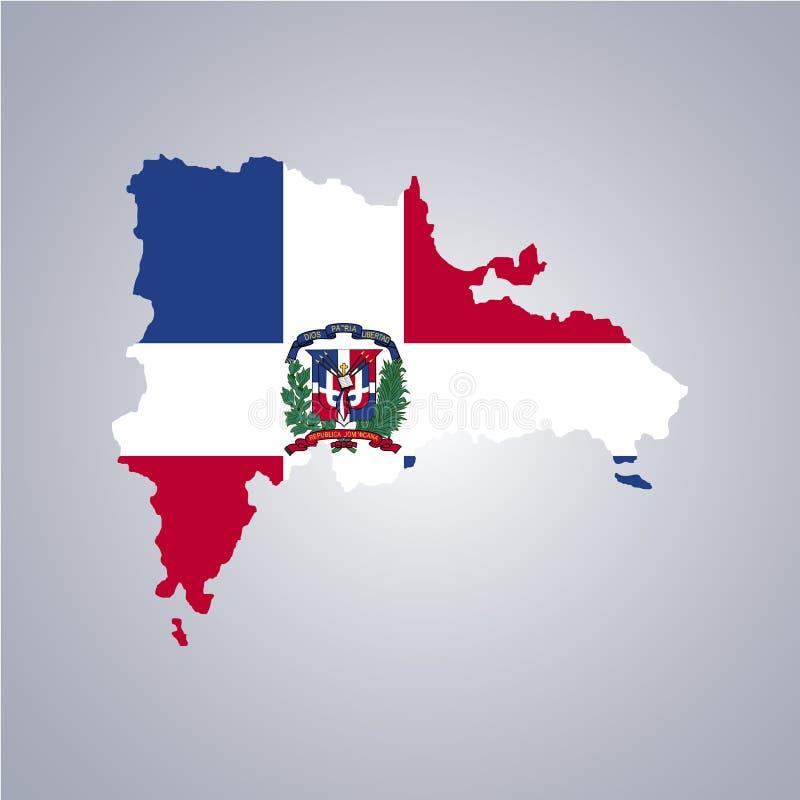 Territorio e bandiera della Repubblica dominicana royalty illustrazione gratis