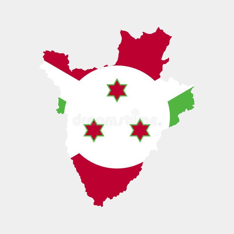Territorio y bandera de Burundi Ilustración del vector libre illustration