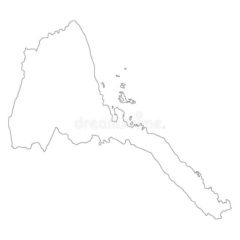 Territorio y bandera de Eritrea Fondo blanco Ilustración del vector ilustración del vector