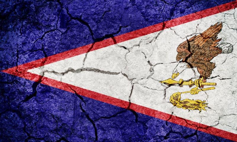 Territorium av den American Samoa flaggan vektor illustrationer