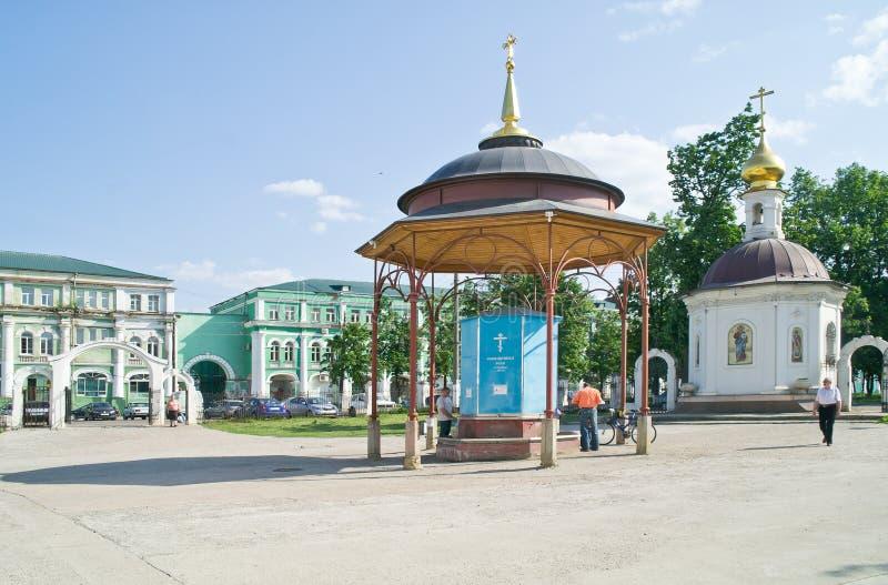 Territorium av Epiphanydomkyrkan Oryol fotografering för bildbyråer