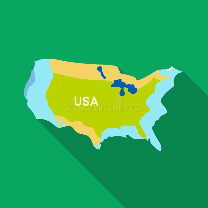Territorium av Förenta staternasymbolen i plan stil som isoleras på vit bakgrund Vektor för materiel för USA landssymbol royaltyfri illustrationer