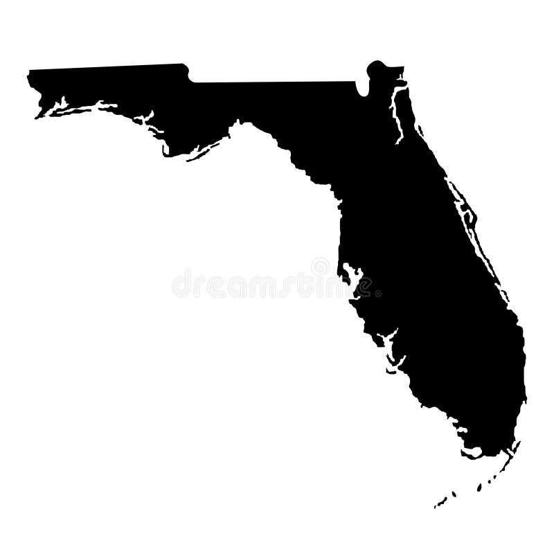 Territorium av Florida Vit bakgrund också vektor för coreldrawillustration royaltyfri illustrationer