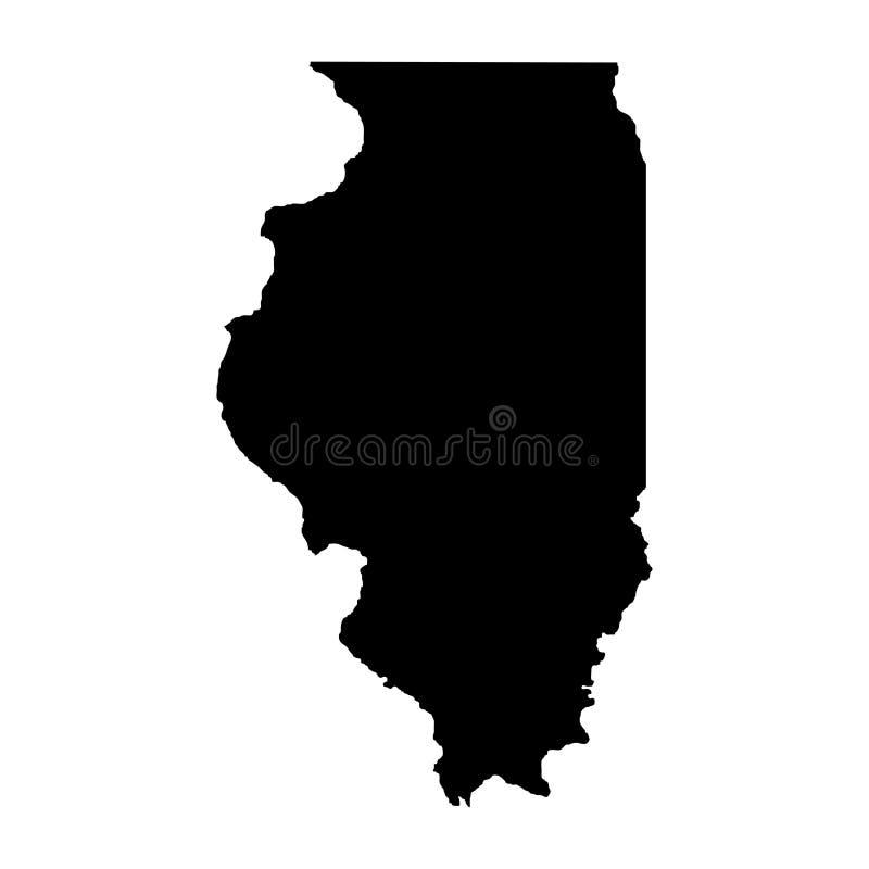 Territorium av Illinois Vit bakgrund också vektor för coreldrawillustration royaltyfri illustrationer