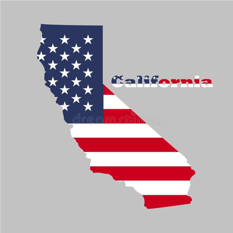 Territorium av Kalifornien Grå färgbakgrund också vektor för coreldrawillustration royaltyfri illustrationer