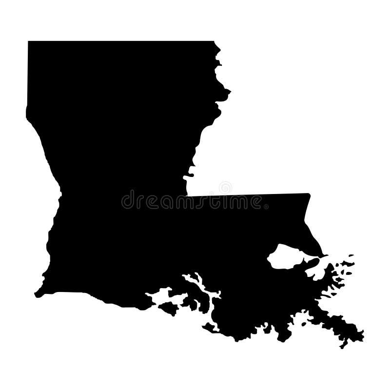 Territorium av Louisiana Vit bakgrund också vektor för coreldrawillustration royaltyfri illustrationer