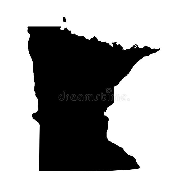 Territorium av Minnesota Vit bakgrund också vektor för coreldrawillustration stock illustrationer