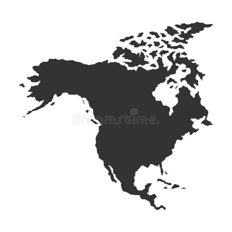Territorium av Nordamerika också vektor för coreldrawillustration vektor illustrationer