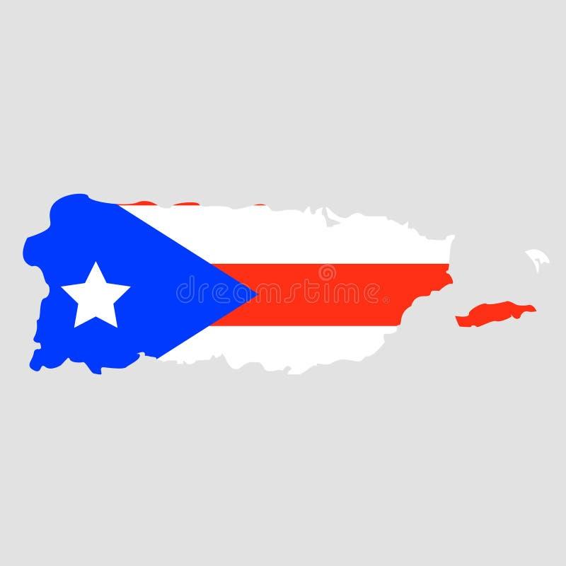Territorium av Puerto Rico på en grå bakgrund royaltyfri illustrationer