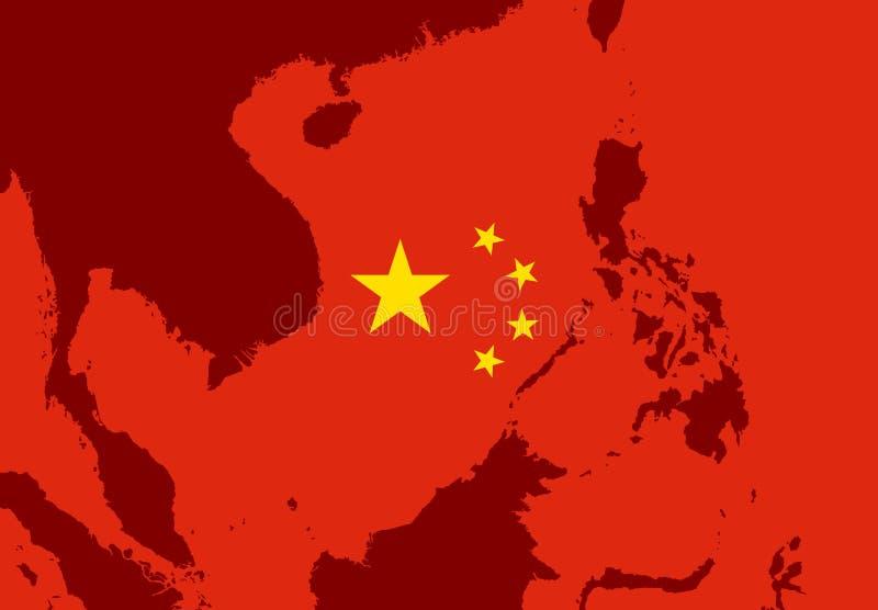 Territorium av sydkinesiska havet royaltyfri illustrationer