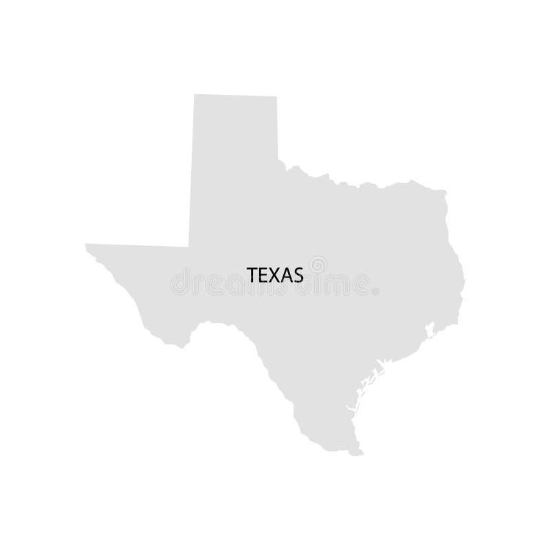 Territorium av Texas Vit bakgrund också vektor för coreldrawillustration royaltyfri illustrationer