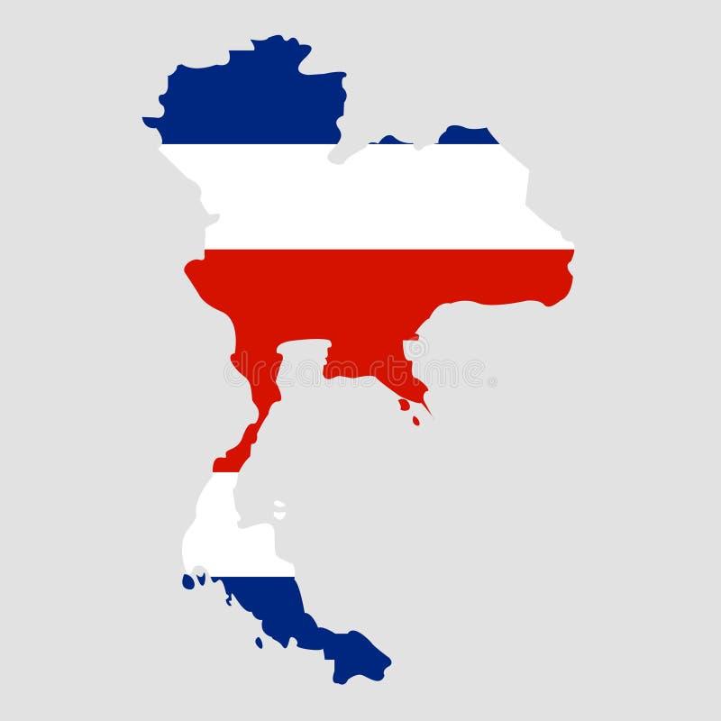 Territorium av Thailand på en grå bakgrund royaltyfri illustrationer