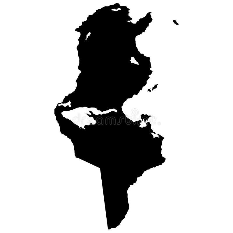 Territorium av Tunisien Vit bakgrund också vektor för coreldrawillustration royaltyfri illustrationer