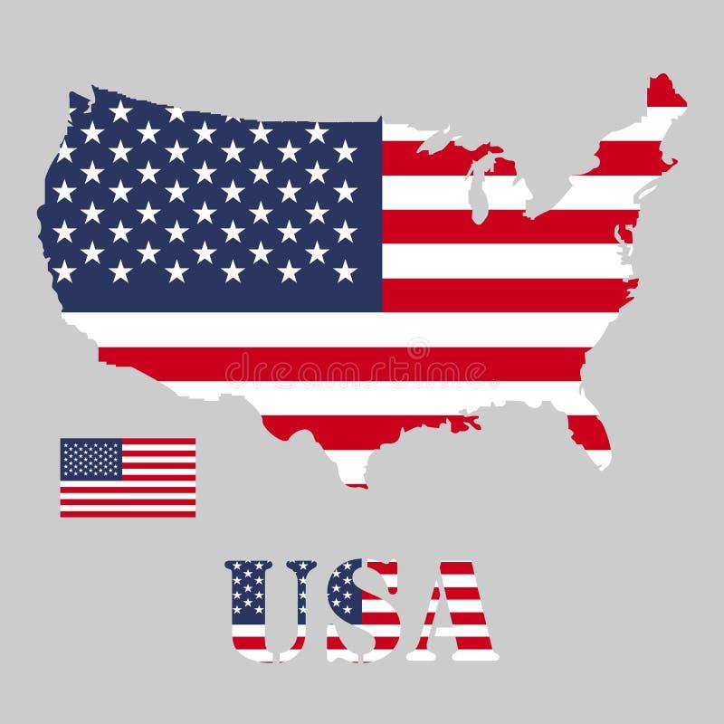 Territorium av USA 3d flagga USA vektor illustrationer