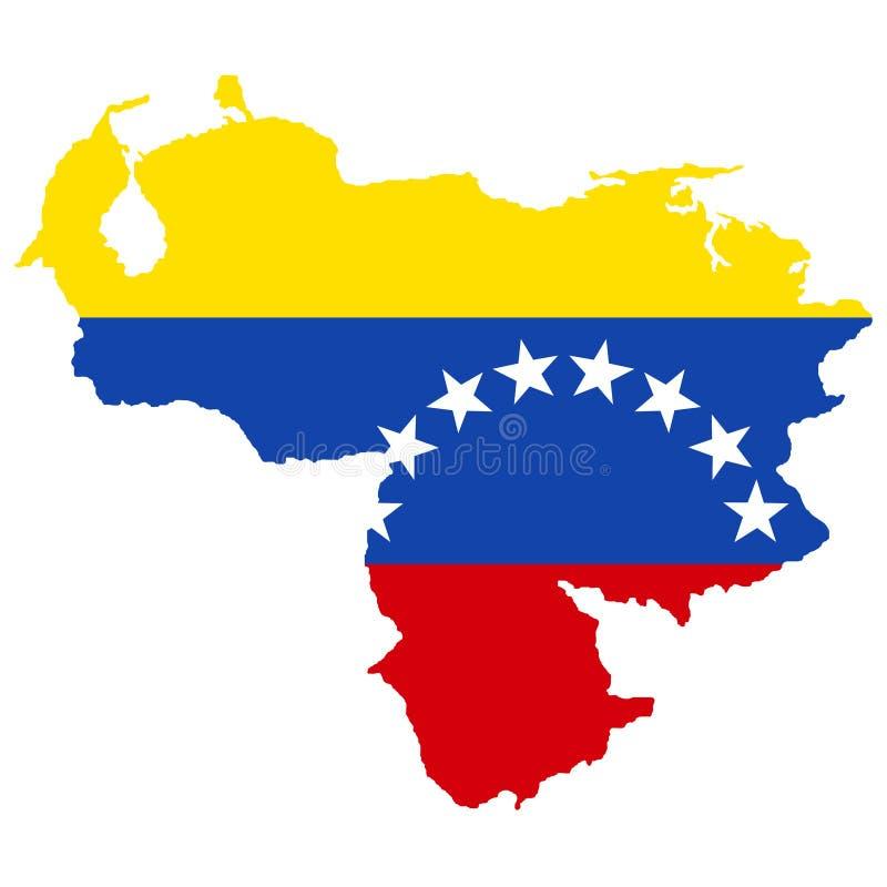 Territorium av Venezuela Vit bakgrund också vektor för coreldrawillustration stock illustrationer